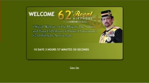 Layout for the official website of His Majesty\'s Birthday Celebration