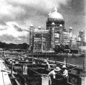 The construction of the OAS Mosque circa 1957-1958