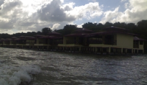 View from the river. Remind me of the Kampong Ayer or the water village in a modern way.