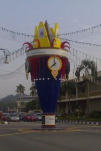 'Fancy' checking the time hun? The clock in Bandar Seri Begawan, pic taken this morning.
