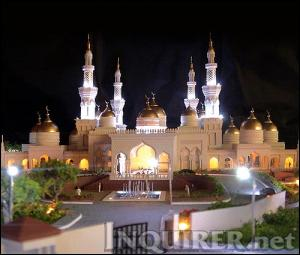 With its shimmering gold-plated domes and tall, slender minarets reaching up to the sky, the mosque symbolizes the very best expression of the Muslim faith in the country and the aspirations of a long-neglected region, said the designer, architect Felino Palafox Jr. The grand feature of the masjid is the four minarets (towers) rising 40 meters high, the equivalent of a 15-story building.