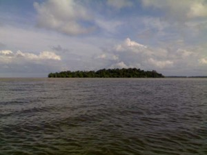 The legendary Pulau Cermin or Cermin Island from a distance. There's a history behind this island.