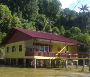 Our destination - the rented house. I only spent a few hours here but my family stayed over-night. Felt like we were living in the water village. It was so hot and very humid.