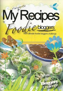 The front cover of My Favourite Recipes by Foodie bloggers selling at Br$10 each. All proceeds from the sale will go to the Brunei Special Olympics Team.