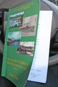 I am a happy bunny if I have a book in my hand. The Golden Warisan signed personally by the author.