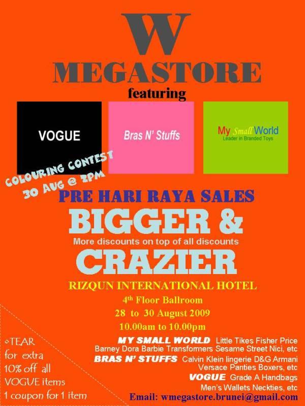 WMGS Pre Raya Sales