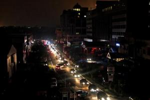 Gadong commercial area in the dark. Pic by The Brunei Times ~ www.bt.com.bn