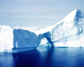 An iceberg in Gerlache Strait, Antarctica. Photographer: Rear Admiral Harley D. Nygren, NOAA Corps (ret.).